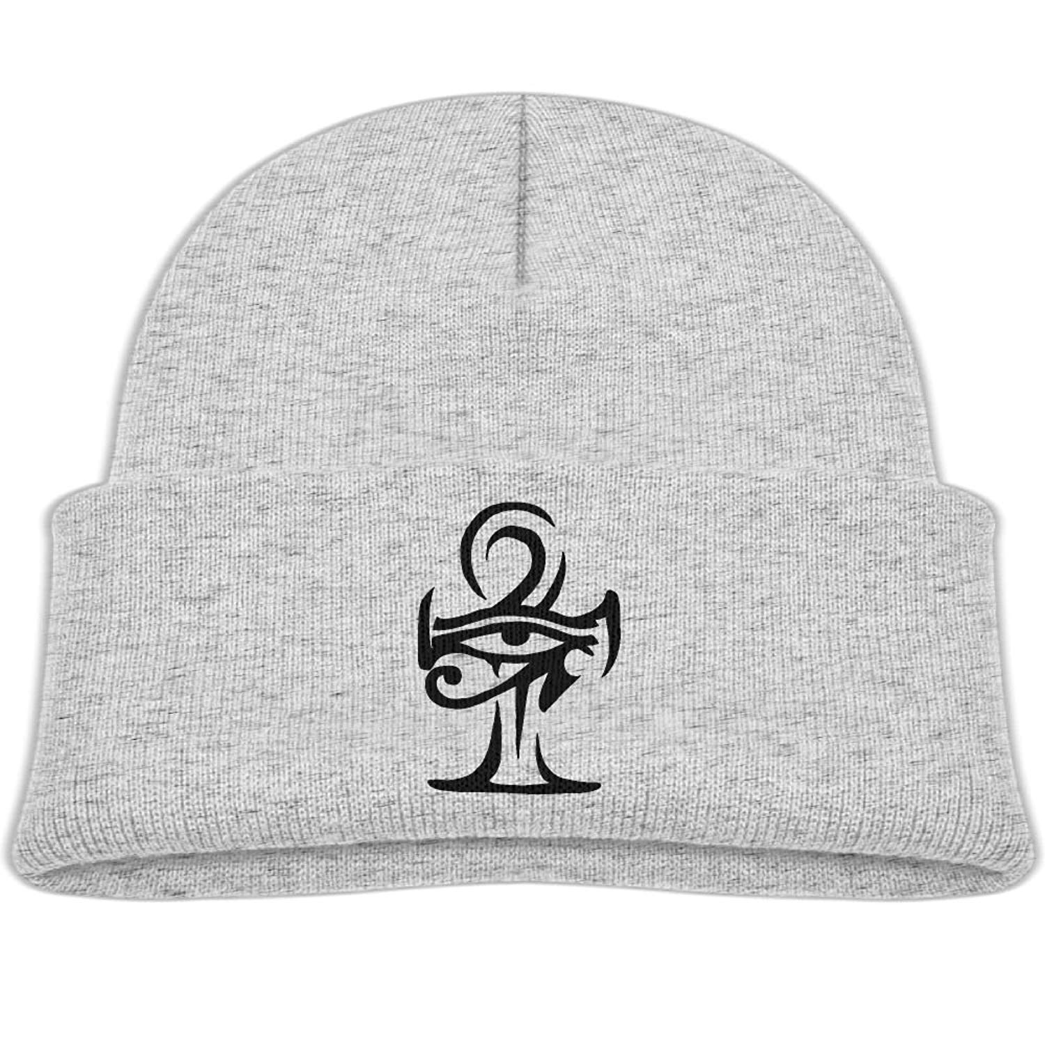 4eb47d51a98 Get Quotations · Raining Sunlight Kids Fashion Horus Eye With Ankh Tribal  Tattoo Casual Flexible Winter Knit Hats