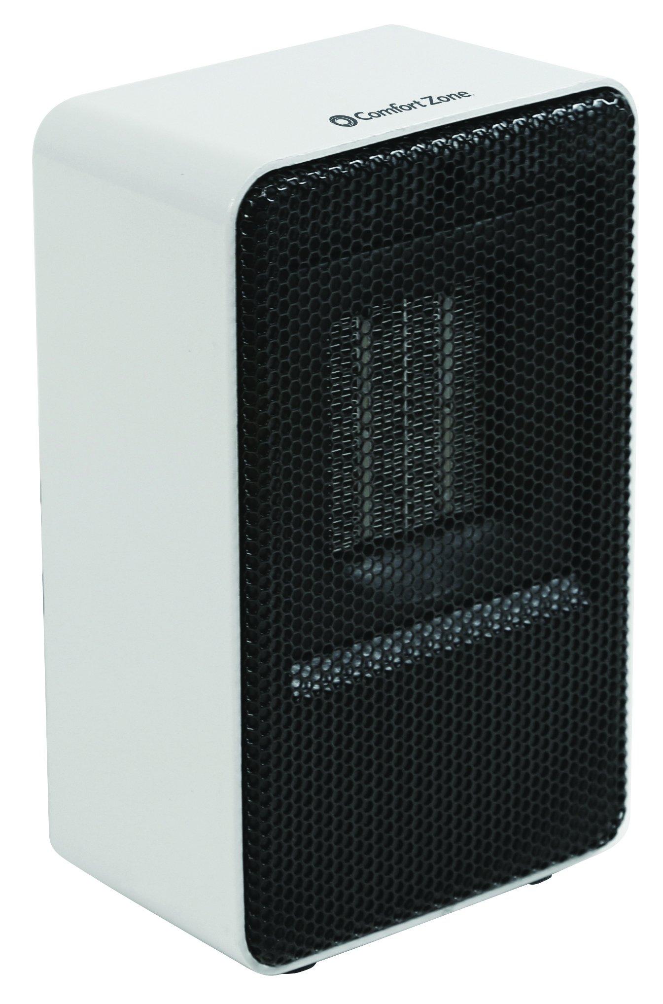 Comfort Zone Personal Ceramic Heater, White