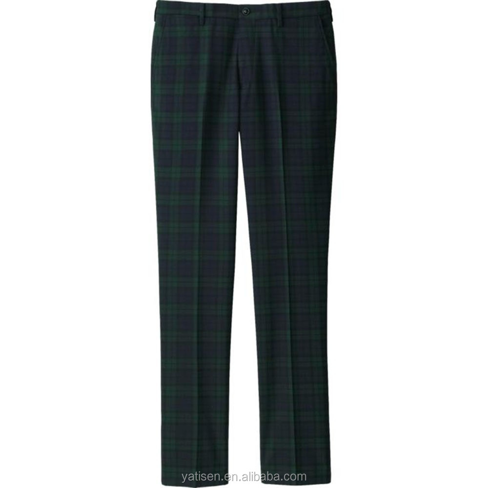 cf24ca353f5270 Tartan Pants For Men 2016 Slim Fit Men's Checked Cotton men's Trousers  Wholesale & OEM