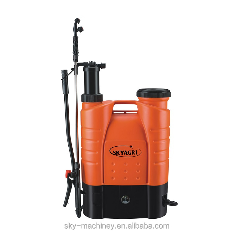 16l battery and manual two in one battery power agro motorized knapsack trigger sprayer