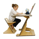 Home furniture study for children custom color durable kids desk and chair