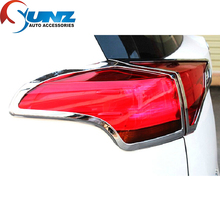 toyota rav4 accessories ABS chrome rear lamps cover for toyota rav4 2014 2015 car-styling toyota rav 4 tail lights accessory new