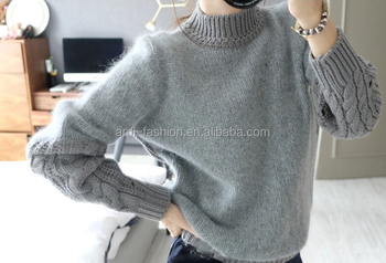 0cab31668 Womens Cable Hand Knit Angora Wool 100% Angora Sweater - Buy ...