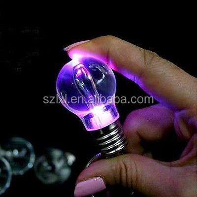 Lanterna LED Light Bulb Chaveiro Keychain Lamp Torch