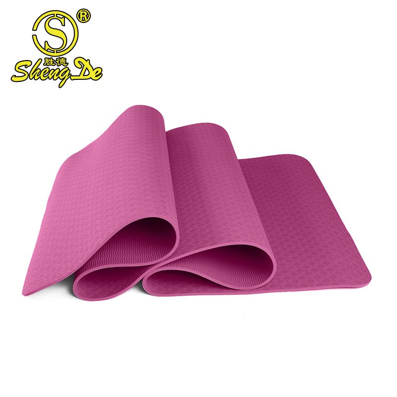 2017 großhandel hohe qualität gymnastikmatte billig, rosa yoga mat