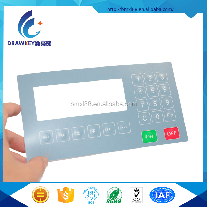 Graphic Overlay Custom Membrane Switch Panel For Industrial Equipment