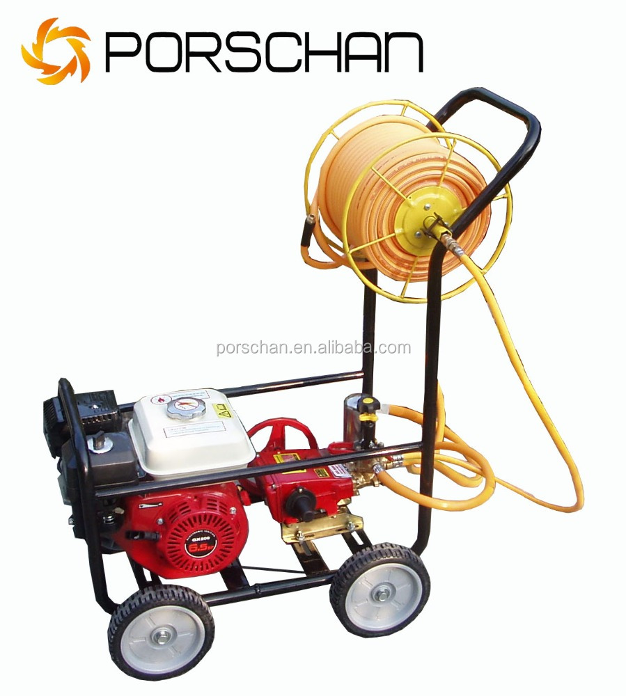 High quality new type hot sale 6.5HP 4-Wheel Agriculture gas/ petrol engine power high volume Sprayer