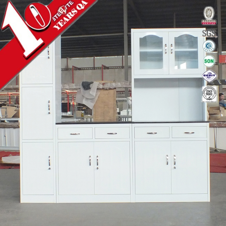 Space saving furniture modern high gloss kitchen cabinet with kitchen almirah image