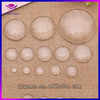 Wholesale fancy 20mm 30mm round transparant clear glass cabochon ,flat on both side glass cabochon