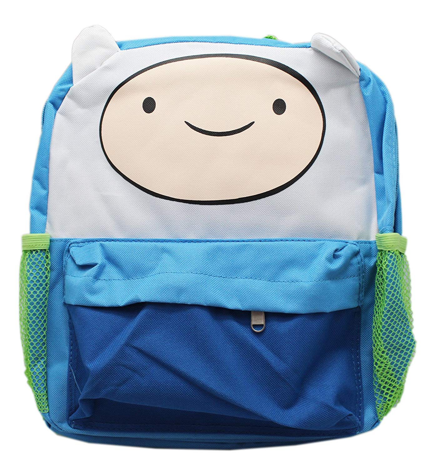 Get Quotations · Adventure Time Finn the Human Blue Green Small Kids  Backpack (12in) 4d9b90cc08