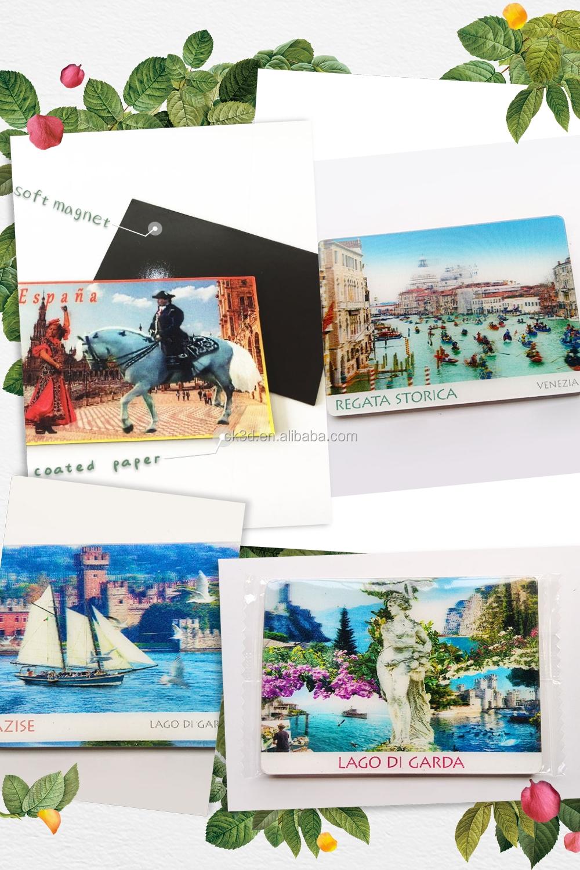 Stampa personalizzata flessibile forte foto magnete da frigorifero