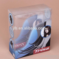 wholesale hair extension pvc plastic packaging/tuck top clear pvc boxes