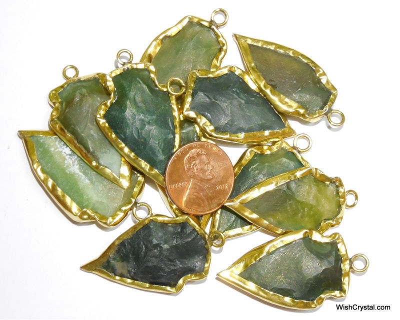 Wholesale Agate Crystal Arrowhead Pendant - C50