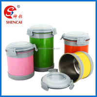 wholesale colourful stainless steel food coffee tea sugar round tin canister