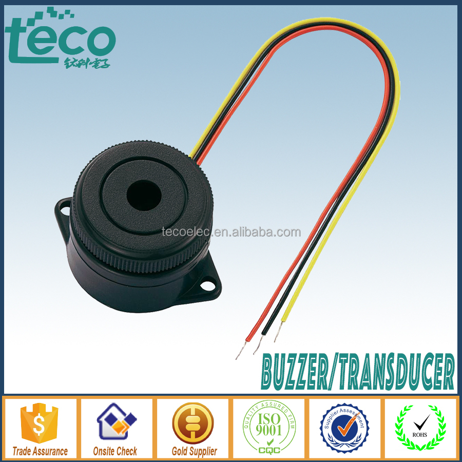 TPB-3025L3 Ningbo TECO Two Tones Three Wires Loud 12V Piezo Buzzer