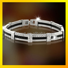 Luxury fashion men bracelet 2016 top quality stainless steel bracelet