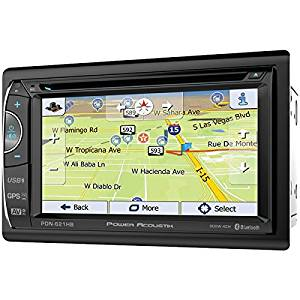 "POWER ACOUSTIK PDN-621HB 6.2"" Incite Double-DIN In-Dash GPS Navigation LCD Touchscreen DVD Receiver with Bluetooth(R) & MHL(R) MobileLink X2"