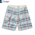 Oem fashion high quality white board shorts beachwear mens short surf hawaiian print shorts polyester pant