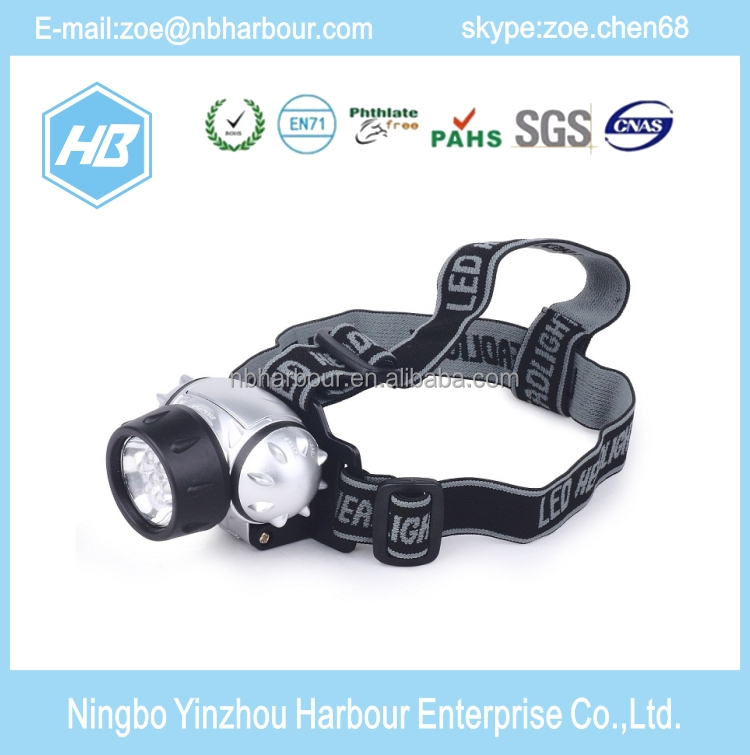 good quality top selling ABS bike headlight led headlight, led head lamp light bike,kids led head torch lamp