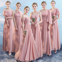 Hot Sale Multiple Styles Maxi Chiffon Bridesmaid Dresses