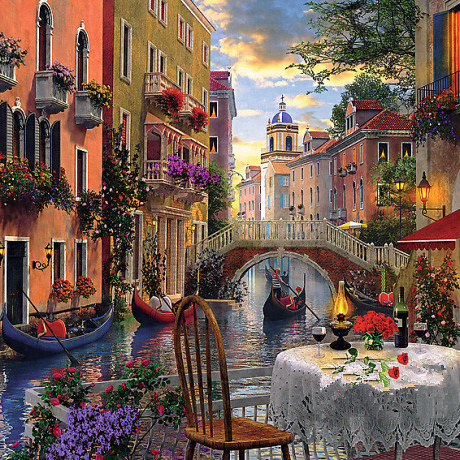 Needlework,Venice Romantic Dinner 14CT Counted Embroidery,High Quality DIY DMC Cross stitch kits,Art Cross-Stitching Home Decor
