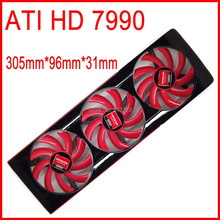 FD7010H12S DC 12V 0.35A For AMD ATI HD 7990 Video Card VGA Fan HD7990 Graphics Card Fan 4 Wire Cooling Fan