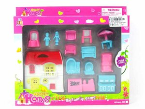 Villa & Fitment With 2 styles, DIY house set, play set