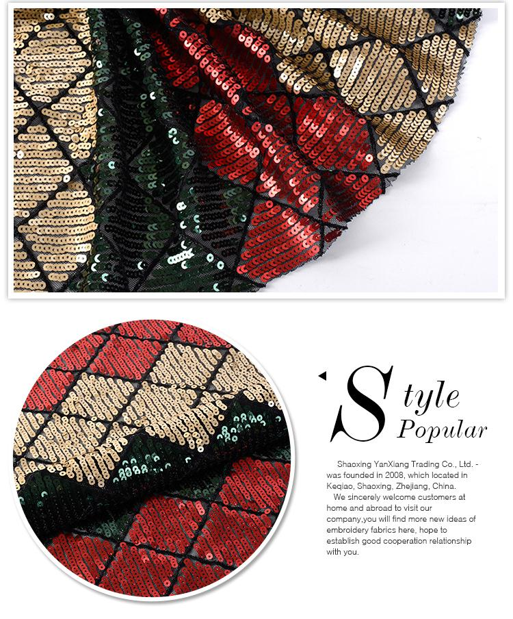 New style Oem accept comfortable 100 polyester embroidered mesh net fabric
