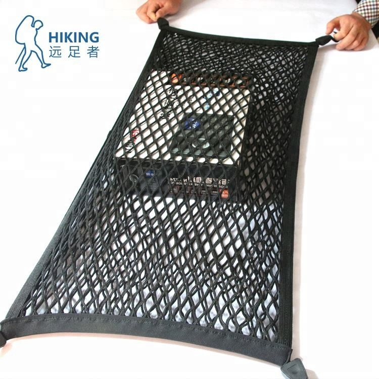 Factory Direct Selling Customizes High Elasticity cargo net Car trunk luggage net 4 hooks