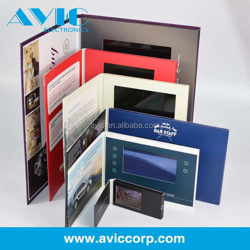 Hot Digital Business Card/lcd Custom Video Magazine With 2.4\