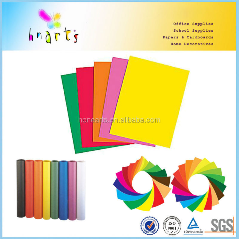 100% wood pulp custom size 100 to 500 sheets A4 color paper