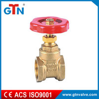 China manufacturer brass gate valve 2 inch ball valve with red handle