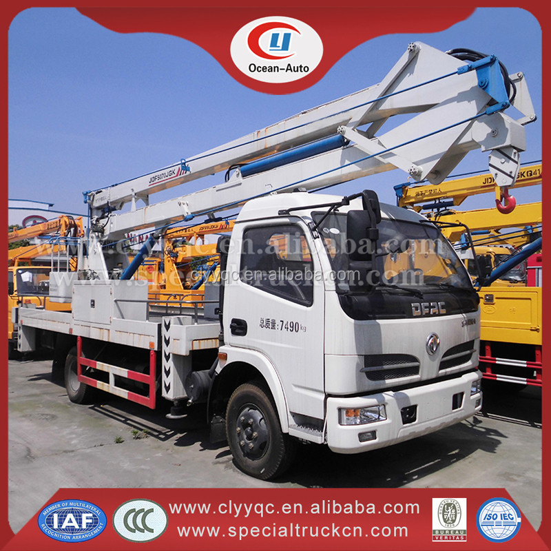 Best Price Dongfeng Small Chassis 14-16m Aerial Working Truck For Sale