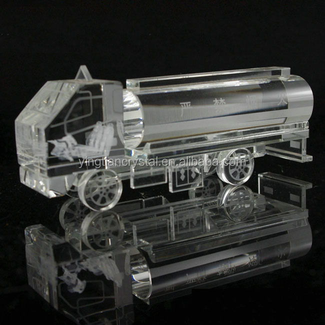 Wholesale Custom Crystal Tanker For Craft Gift