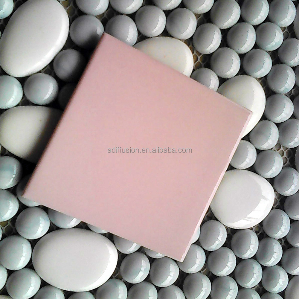 pink ceramic bathroom wall tile for monocolor family 100x100mm/75x150mm/100x200mm