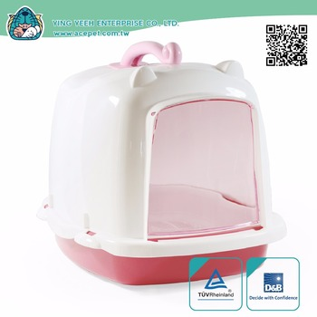 Cat Clean Up Products new premium plastic indoor covered double layer pet litter box,cat litter pan