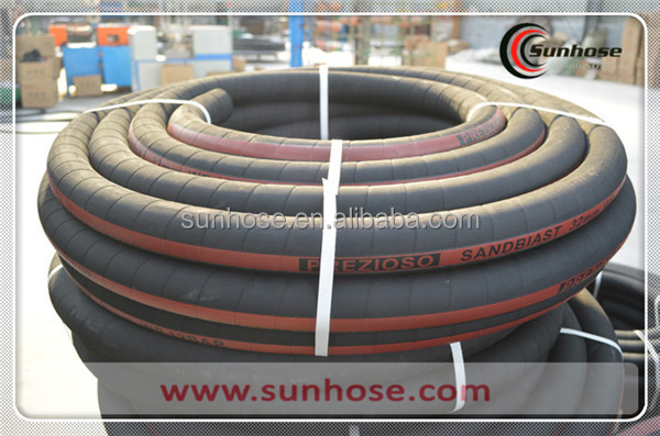 High quality flexible rubber abrasive sandblast hose | sand blast rubber hose