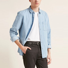 <span class=keywords><strong>Chambray</strong></span> woven männer langarm casual shirts