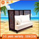 High Quality Multifunction High Back Sofa Set Luxury Rattan Wicker Daybed For Sale Indian Daybed