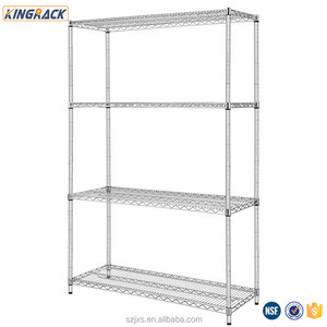 Warehouse Heavy Duty Wire Shelving Racks With Reinforceing Rib