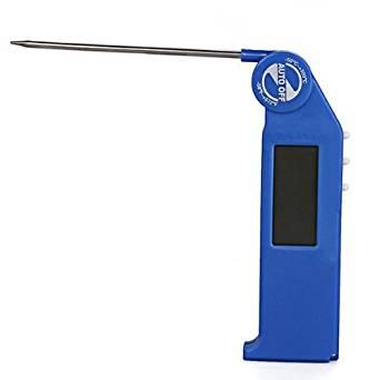 TOOGOO(R) Digital Thermometer Temperature Meter Gauge with Folding Sensor Probe