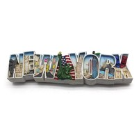 Factory Custom resin magnets gifts new york souvenirs
