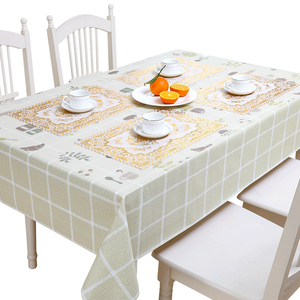 Cloth small fresh waterproof anti scalding oil free disposable bronzing table mat plastic table cloth set