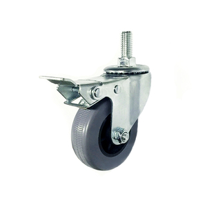 Factory price 3 inch grey PP screw swivel locking caster wheels