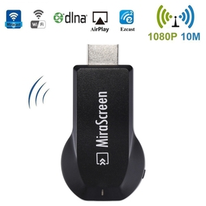 WiFi Display Dongle / Miracast Airplay DLNA Display Receiver Dongle  Wireless Mirroring Screen Device with 2 in 1 USB Cable