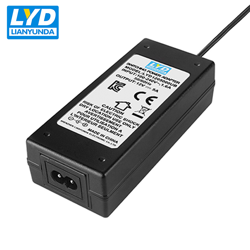 60 w dc power adapter ac 100-240 v adapter 12 v 5a