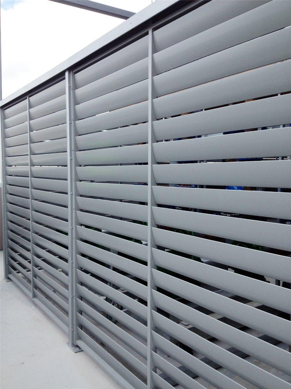 Louver Screen Wall : Decoration building louver aluminum shutter wall