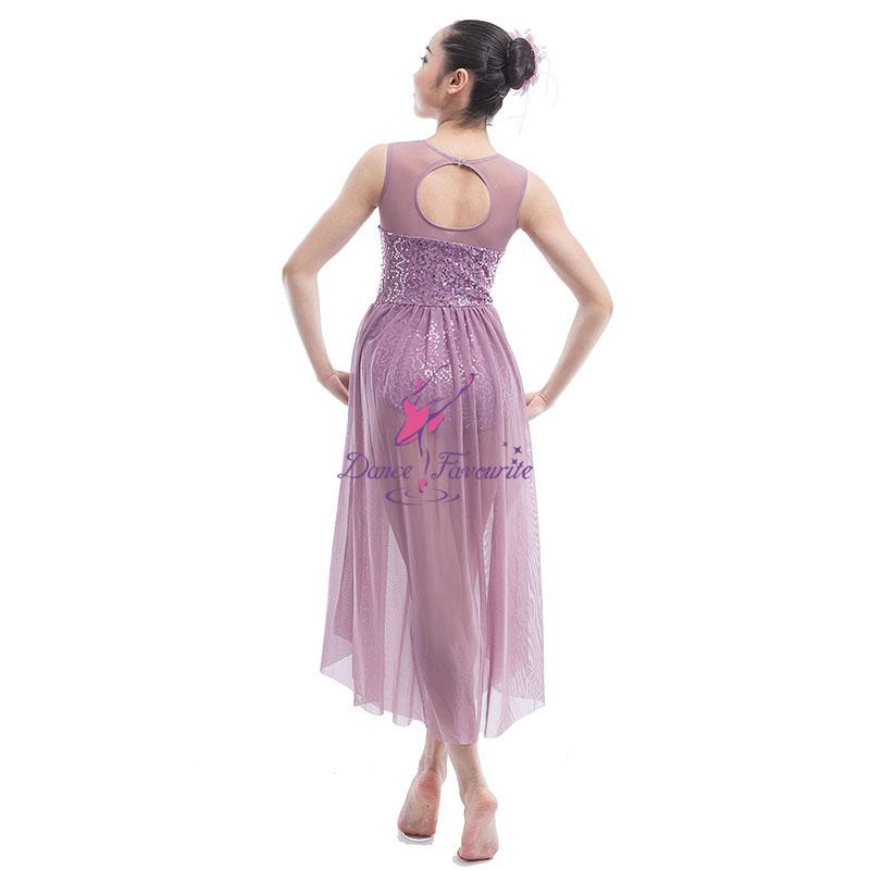 Full-Length Stunning Sequin Spandex Lyrical Dance Costume Dress for Girls  Ballet   Contemporary Dancing f0f13f357