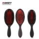 Black Color Plastic Handle Boar Bristle Hair Brush Detangling hair comb