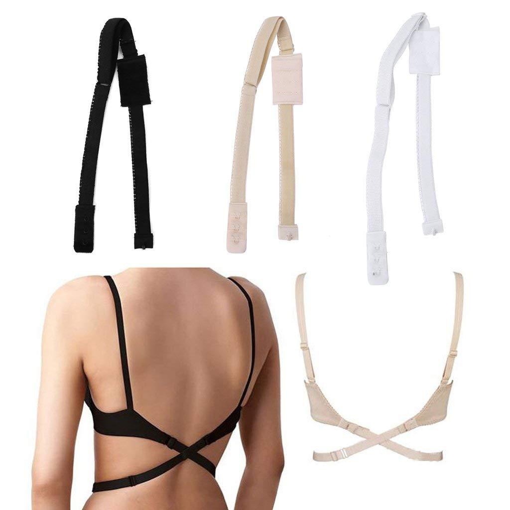 ce169321fb8 Get Quotations · Women's Adjustable Low Back Converter Bra Strap, LIYUDL  Extender Crisscross Underwear